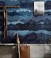 Midnatt-Landschaft-Moderne-Muster-FotoTapeten-Blau-Grau