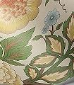 Midsummer-Bloom,-col.-3-Blumen-Blätter-Äste-Klassische-Muster-Florale-Muster-Rot-Grün-Blau-Gelb-Bronze