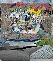 Mikro-Makrokosmos-von-Sara-Ginolas-Figuren-Wolken-Wasser-Collage-FotoTapeten-Multicolor