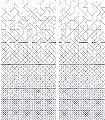 Modular-Linie-Quadrate/Rechtecke-Zeichnungen-Dreiecke-Zickzack-Florale-Muster-Moderne-Muster-Blau-Anthrazit-Weiß