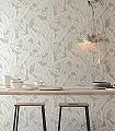 Monkey-Desert-Tiere-Blätter-Fauna-Moderne-Muster-Silber-Creme