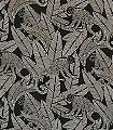 Monkey-Night-Tiere-Blätter-Fauna-Moderne-Muster-Silber-Schwarz-Bronze