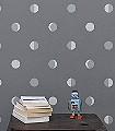 Moon-Crescents,-kitten-grey-Punkte-KinderTapeten