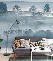Morning-Haze-Bäume-Landschaft-FotoTapeten-Grün-Blau