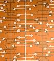 Muscat,-col.02-Kreise-Linie-Moderne-Muster-Grau-Braun-Orange-Weiß