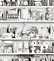 My-Museum,-col.02-Gegenstände-3D-Tapeten-tromp-l'oeil-Moderne-Muster-FotoTapeten-Anthrazit