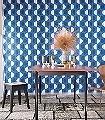 Mykonos,-col.-40-Kreise-Graphisch-Moderne-Muster-Grafische-Muster-Blau-Anthrazit-Weiß