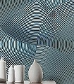 Mystic-Silver-Formen-3D-Tapeten-FotoTapeten-Grün-Lila