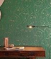 NEFERTITI-AMAZON-Figuren-Gesichter-Art-Deco-Grün-Gold-Anthrazit