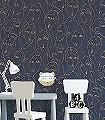 NEFERTITI-IMPERIAL-Figuren-Gesichter-Art-Deco-Blau-Bronze