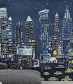 NYC-Mural-Gebäude-Fahrzeuge-FotoTapeten-KinderTapeten-Blau-Gelb-Weiß