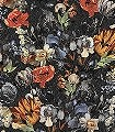 Nausika,-col.10-Blumen-Florale-Muster-Rot-Blau-Schwarz