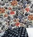 Nausika,-col.13-Blumen-Florale-Muster-Grün-Blau-Grau-Orange-mint