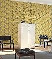 Navajo,-col.04-Blätter-Dreiecke-Moderne-Muster-Gelb-Anthrazit-Schwarz-Weiß