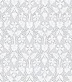 Nora,-col.-7-Blumen-Rauten-Blätter-Jugendstil-Klassische-Muster-Florale-Muster-Jugendstil-Grau-Anthrazit-Weiß