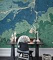 OXFORD-CLAY-Welt-FotoTapeten-Grün-Blau-Ocker