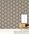 Oak-Filigree,-col.01-Blätter-Florale-Muster-Braun-Anthrazit-Bronze-Creme