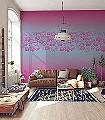 Oceans,-makahapink-Blumen-Hellgrün-Pink