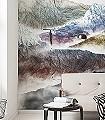 Olympic-Berge-FotoTapeten-Weiß-Multicolor