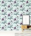 Orchid-No.-27-Blumen-Moderne-Muster-Lila-Anthrazit-mint