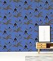 Orchid-No.-30-Blumen-Moderne-Muster-Blau-Gold-Braun-Anthrazit