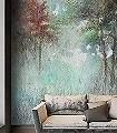 Ovidio-Bäume-Landschaft-Florale-Muster-FotoTapeten-Multicolor
