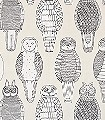 Owls-of-the-British-Isles-Tiere-Moderne-Muster-Schwarz-Weiß-Creme