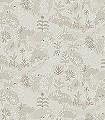 PARADISO-MOONBEAM-Tiere-Bäume-Landschaft-Fische-Fauna-Florale-Muster-Weiß-Creme