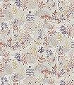 PARADISO-TAMAKI-Tiere-Bäume-Landschaft-Fische-Fauna-Florale-Muster-Rot-Blau-Grau-Braun-Creme