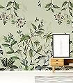 PASSIFLORE,-col.-07-Blumen-Tiere-Blätter-Vögel-Fauna-Florale-Muster-FotoTapeten-Multicolor