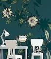 PASSIFLORE,-col.-08-Blumen-Tiere-Blätter-Vögel-Fauna-Florale-Muster-FotoTapeten-Multicolor