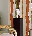 PAYSAGE-INCONNU,-Terre-de-sud-Streifen-Moderne-Muster-Grün-Braun-Orange-Creme