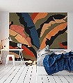 PLUMOSA-Blätter-Florale-Muster-FotoTapeten-Multicolor