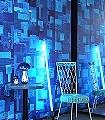 PNO-03-Quadrate/Rechtecke-Moderne-Muster-Blau