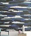 PROMENADE,-Ciel-dorage-Wellen-Wolken-Moderne-Muster-FotoTapeten-Grün-Blau-Anthrazit-Weiß