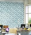Palm-Jungle,-col.02-Blätter-Vintage-Tapeten-Florale-Muster-Grün-Creme-petrol