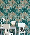 Palmaria,-col.-4-Blätter-Florale-Muster-Grün-Creme-Hellblau