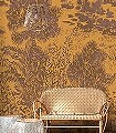 Palmeraie-Jaune-Curry-Pana-Blumen-Blätter-Florale-Muster-FotoTapeten-Braun-Ocker