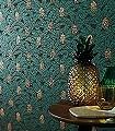 Palmeta,-col.-2-Blätter-Früchte-Florale-Muster-Grün-Gold-Schwarz