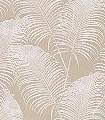 Paloma-Clay-Blätter-Florale-Muster-Weiß-Creme-Perlmutt-Hellbraun