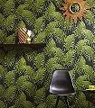 Paloma-Dark-Emerald--Blätter-Florale-Muster-Grün-Schwarz