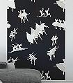 Panel-Ballet-Couple-Dance-Figuren-Moderne-Muster-FotoTapeten-Creme-Schwarz-und-Weiß