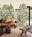 Panoramique-Monteverde-Blumen-Bäume-Blätter-Florale-Muster-FotoTapeten-Multicolor