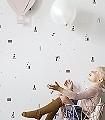 Party-Wallpaper-Gegenstände-KinderTapeten-Grau-Rosa-Schwarz-Weiß