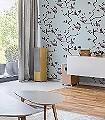 Pavilion-Birds-Blue-Tiere-Bäume-Moderne-Muster-Grau-Rosa-Anthrazit-mint