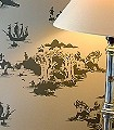 Peter-Pan,-charcoal-on-pale-grey-Märchen-Klassische-Muster-KinderTapeten-Grau-Anthrazit