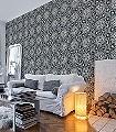 Piccadilly,-col.05-Ornamente-Kachel-Orientalisch-Gold-Schwarz-Weiß