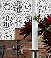 Pigkammaren,-col.-5-Ornamente-Klassische-Muster-Anthrazit-Creme-weinrot