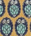 Pina,-col.-3-Früchte-Florale-Muster-Gelb-Anthrazit-Türkis-Weiß