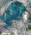 Planet-Welt-FotoTapeten-Grün-Blau-Türkis-Weiß